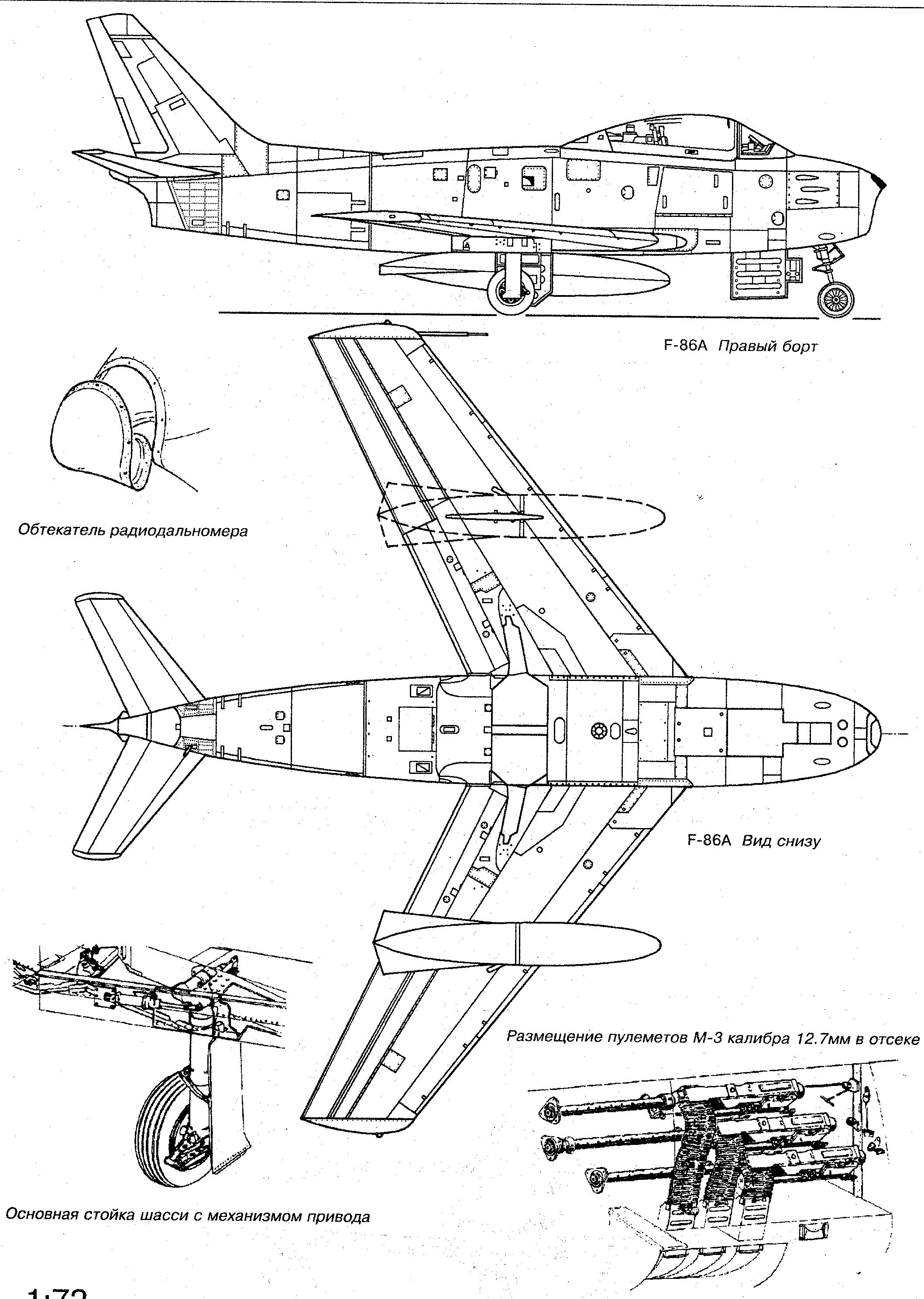 F 86 Sabre Blueprint Military Board Aircraft Aircraft