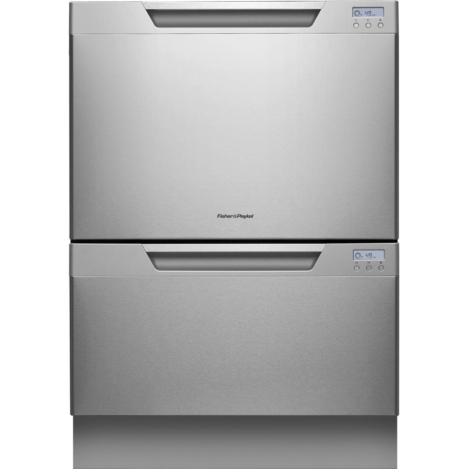 prd fisher drawers double dishwasher with integrated stainless paykel steel drawer