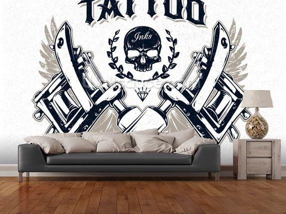 Tattoo Wall Art תוצאת תמונה עבור tattoo wall murals | סטודיו חדש | pinterest