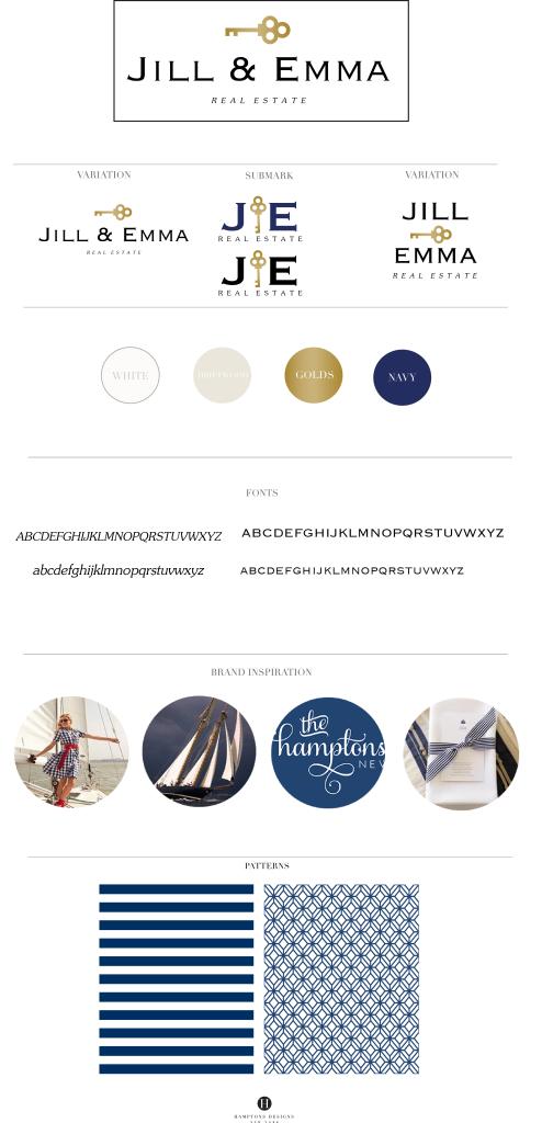 Jill & Emma Real Estate Branding board · Designed by Hamptons Designs #branding #logo #real #estate #brand #stylist hamptonsdesigns.com