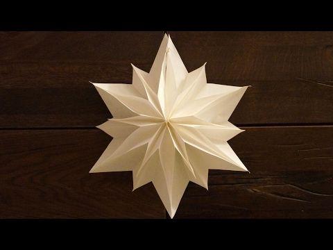 einfache sterne zu weihnachten basteln paper stars tutorial diy sterne weihnachten und youtube. Black Bedroom Furniture Sets. Home Design Ideas