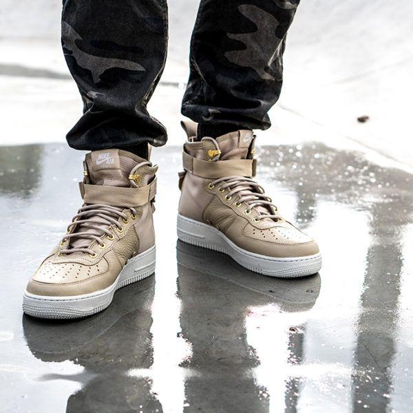 Nike Sf Air Force 1 Mid Mushroom Sneakers Nike Nike Sf Af1