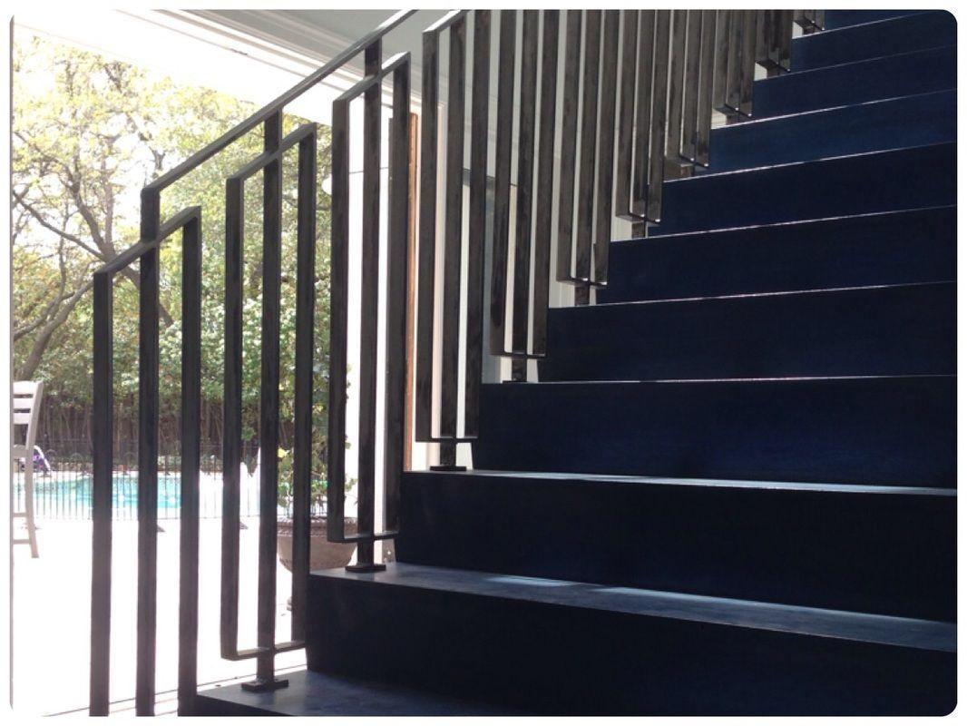 Mid century stair rail | Modern stair railing, Modern ...