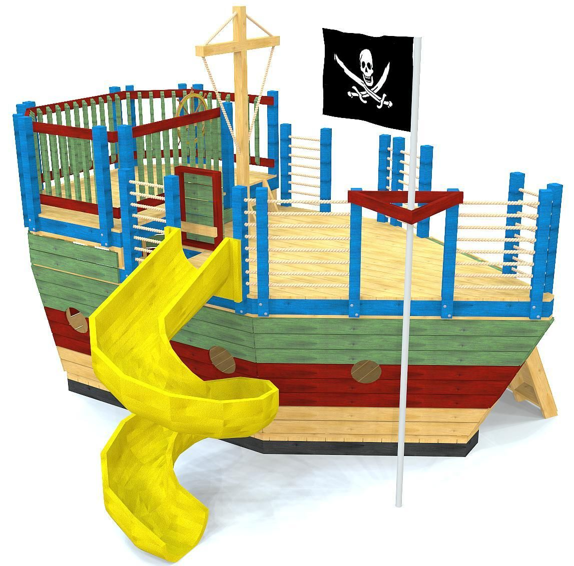 Diy loft bed with slide plans  Edward Thatch Pirate Ship Play Plan  DIY  Pinterest  Play houses