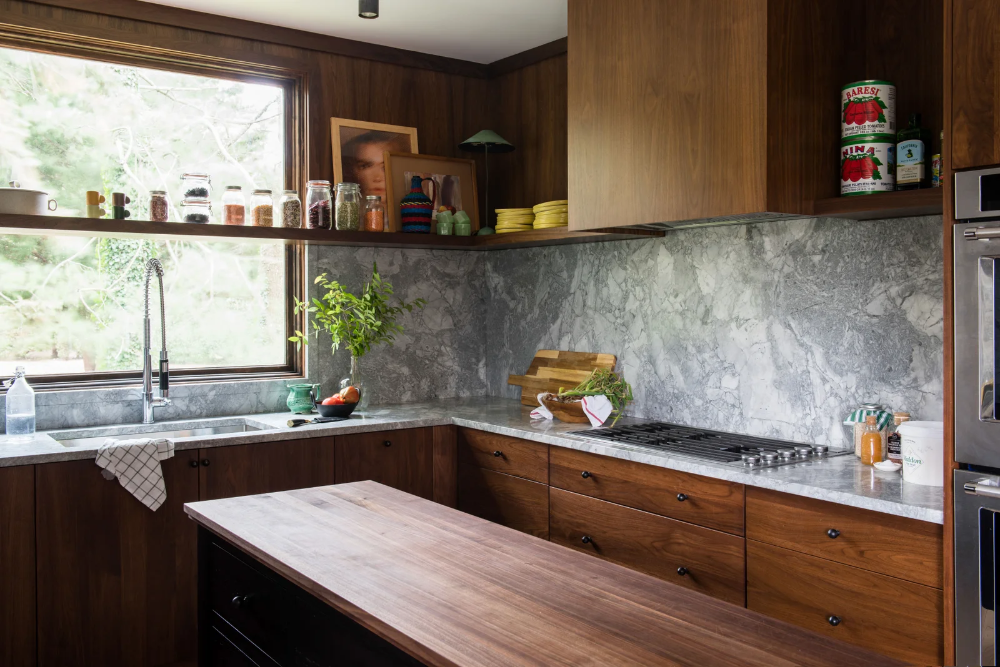 Photo of A Mid-century Kitchen Gets a Modern (and Moody) Makeover