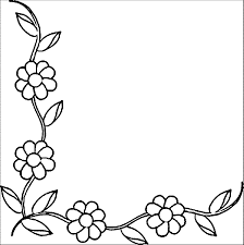 20+ Latest Page Border Designs Flowers Black And White