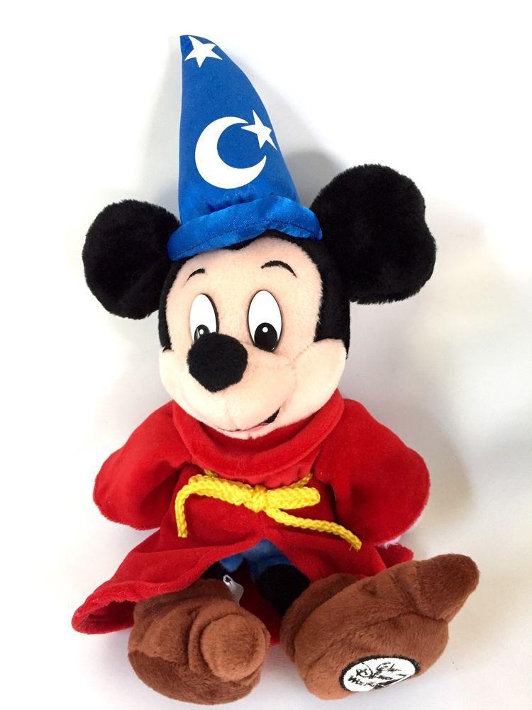 d65ccc08caf Mickey Mouse Fantasia Sorcerer 12 Inch Mini Disney World Bean Bag Plush  Wizard
