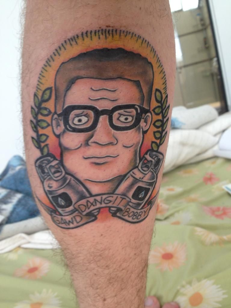 Hank hill forever king of the hill portrait tattoo