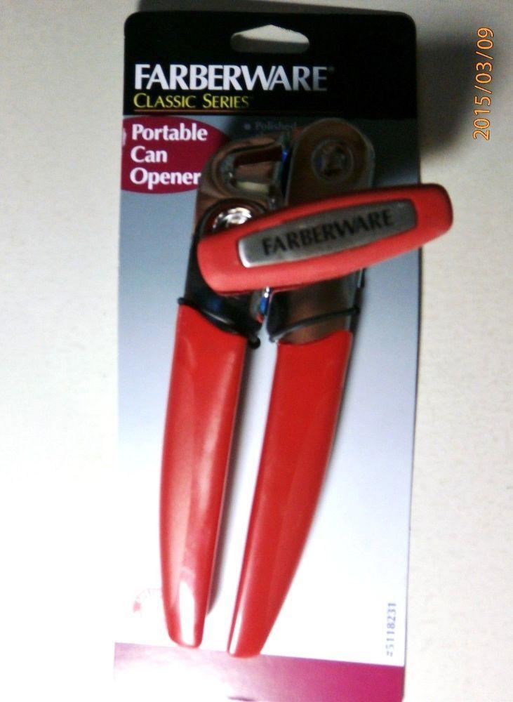 Farberware classic series portable can opener red 1 pack