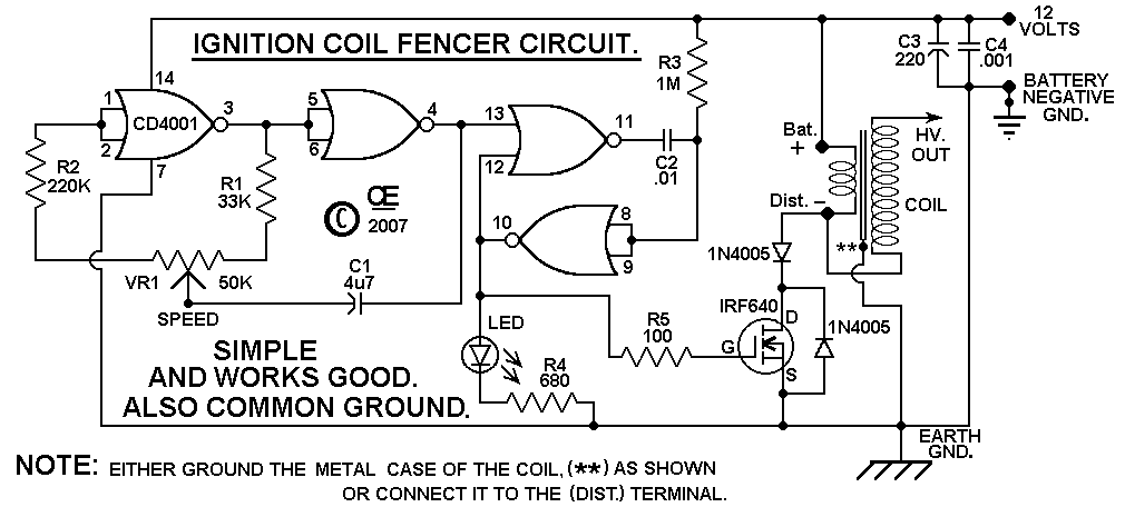 DIY Electric fence circuit | Technology in 2019 | Electric fence energizer, Circuit, Solar