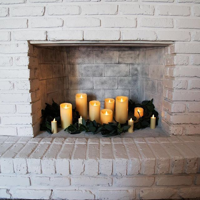 Decorating Fireplaces With Candles