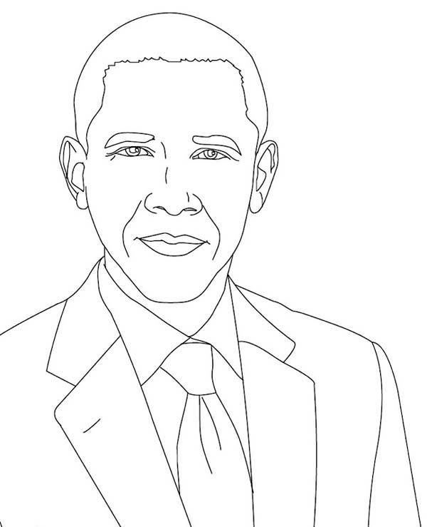 Coloring Picture Of Barack Obama