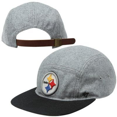 Sport this  47 Brand Pittsburgh Steelers wool strapback hat on or off game  day. 33fd0e355ad0