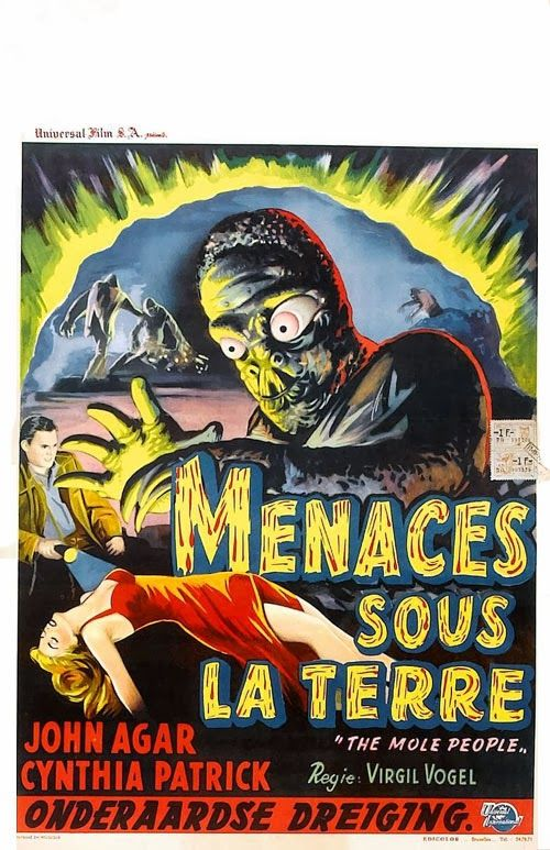 THE MOLE PEOPLE; French poster.
