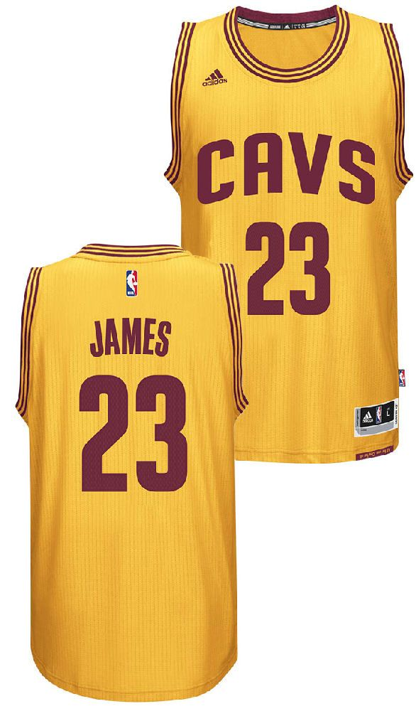 0f7bf03595 Lebron James Youth Cleveland Cavaliers Gold Replica Basketball Jersey by  Adidas  44.95