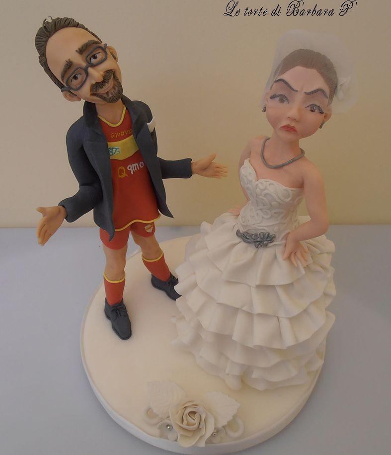 La sposa è arrabbiatissima perchè lo sposo si è presentato all'altare con il completino della sua squadra del cuore