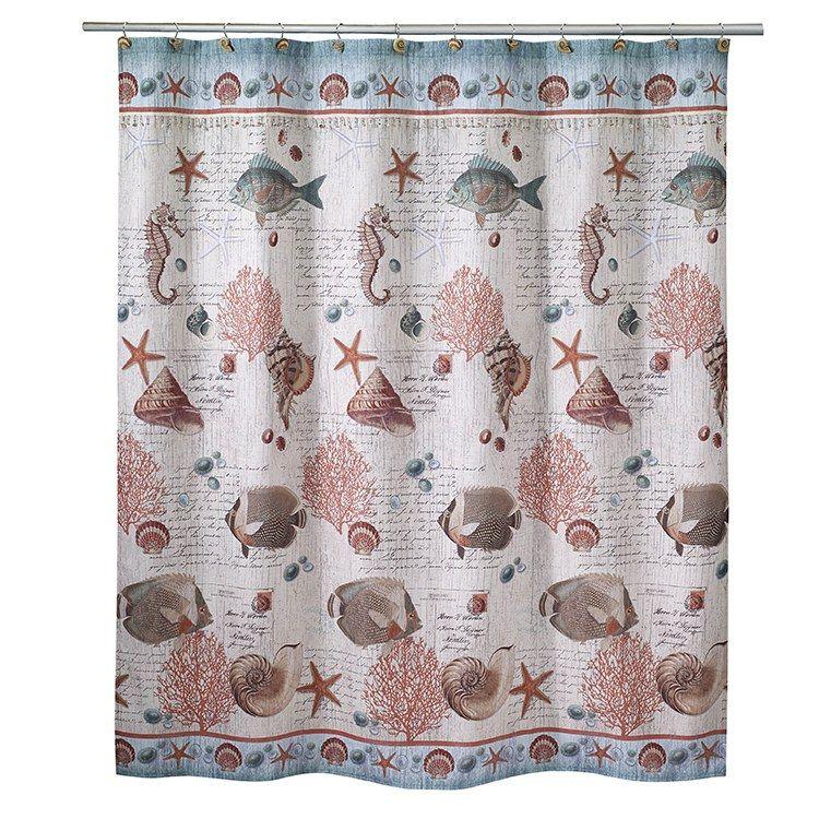Avanti 13827hmul Seaside Vintage 72 X 72 Shower Curtain In 2020