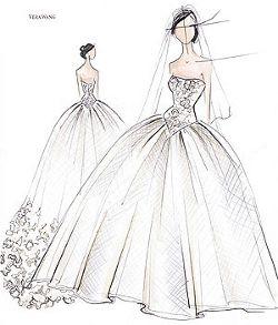 Vestidos de novia en dibujo