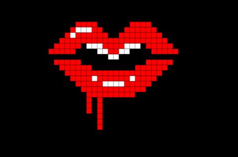 Melting Lips Pixel Art In 2019 Brik Pixel Art Designs Pixel Art