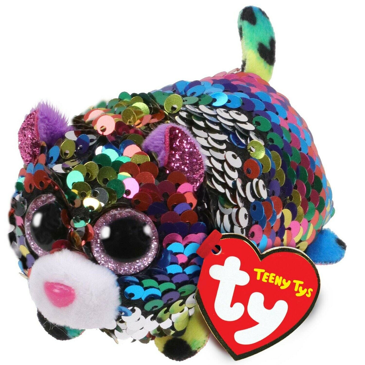 """New 2019 TY Teeny Tys SUNSET the Unicorn 3/"""" FLIPPABLE SEQUINS IN HAND !"""