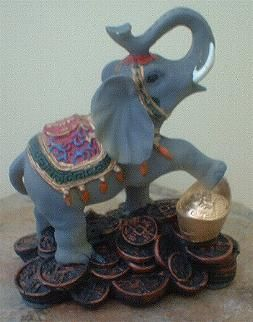 Elephants are good luck in Feng Shui and the Ganeshsa is the Hindu God of Luck.  Elephant figurines placed on shelves or by doorways are said to ensure longevity and luck