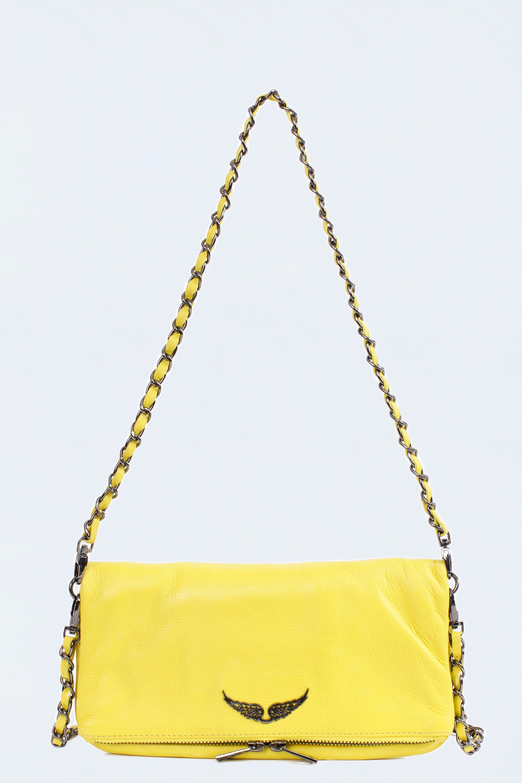 Zadig Voltaire Yellow Rock Woman Clutch Bolso Pequeño Bolso Bolsos De Moda
