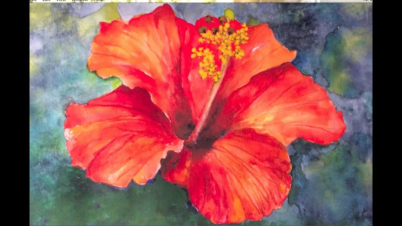 Video By Irmgard Rawn Hibiscus Flower Watercolor Tutorial An Easy And Fun Lesson Watercolor Flowers Tutorial Simple Oil Painting Watercolor Paintings Easy