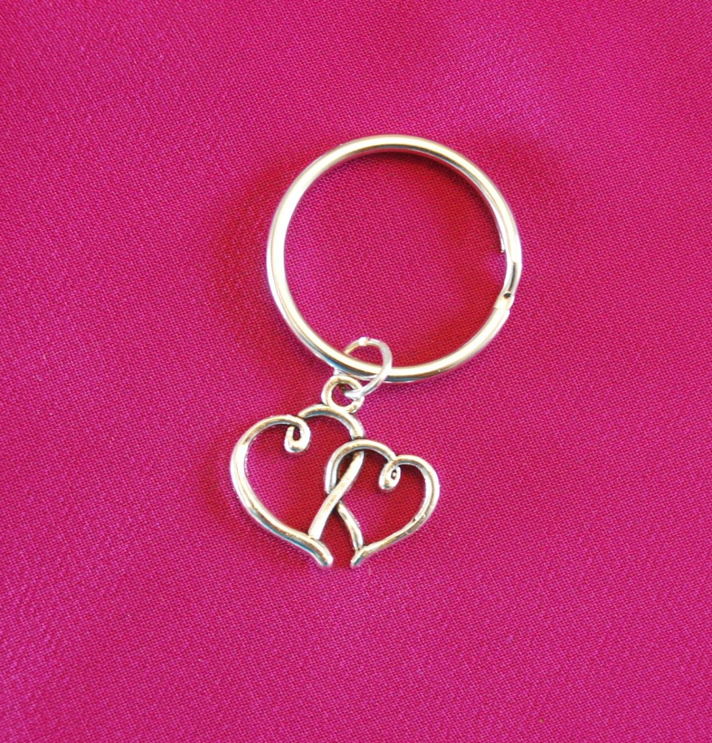 Double Heart Keychain, Valentines Gift for Mom Aunt Key Chain, Love ...