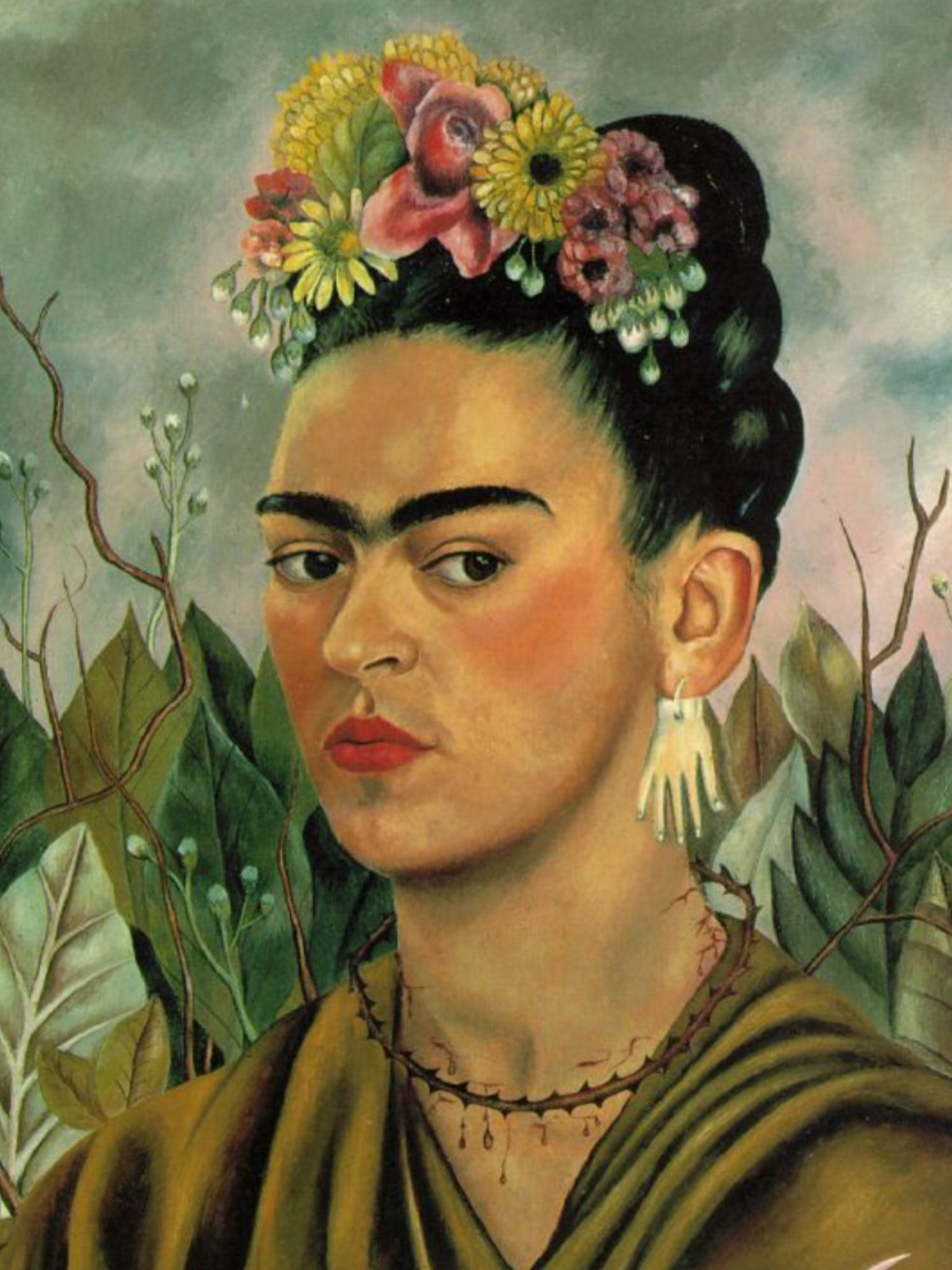 frida art painting culture mexican green pride. Black Bedroom Furniture Sets. Home Design Ideas