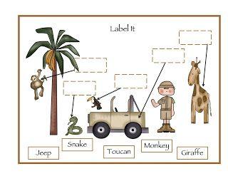 Preschool Printables: Zoo   L Afrique maternelle ...