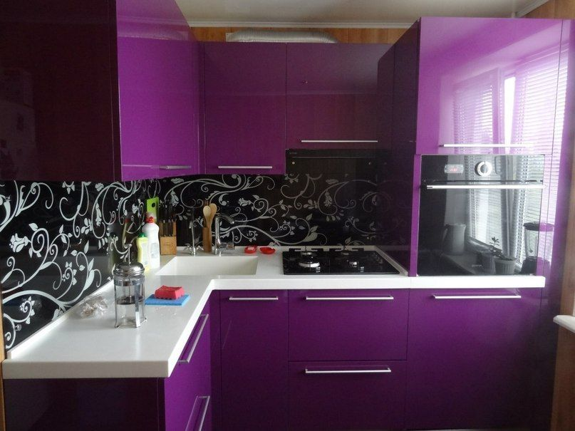 reverse it. black cabinets with purple walls and white floral ... on purple kitchen decorating ideas, purple bathroom tiles, purple kitchens and bathrooms,