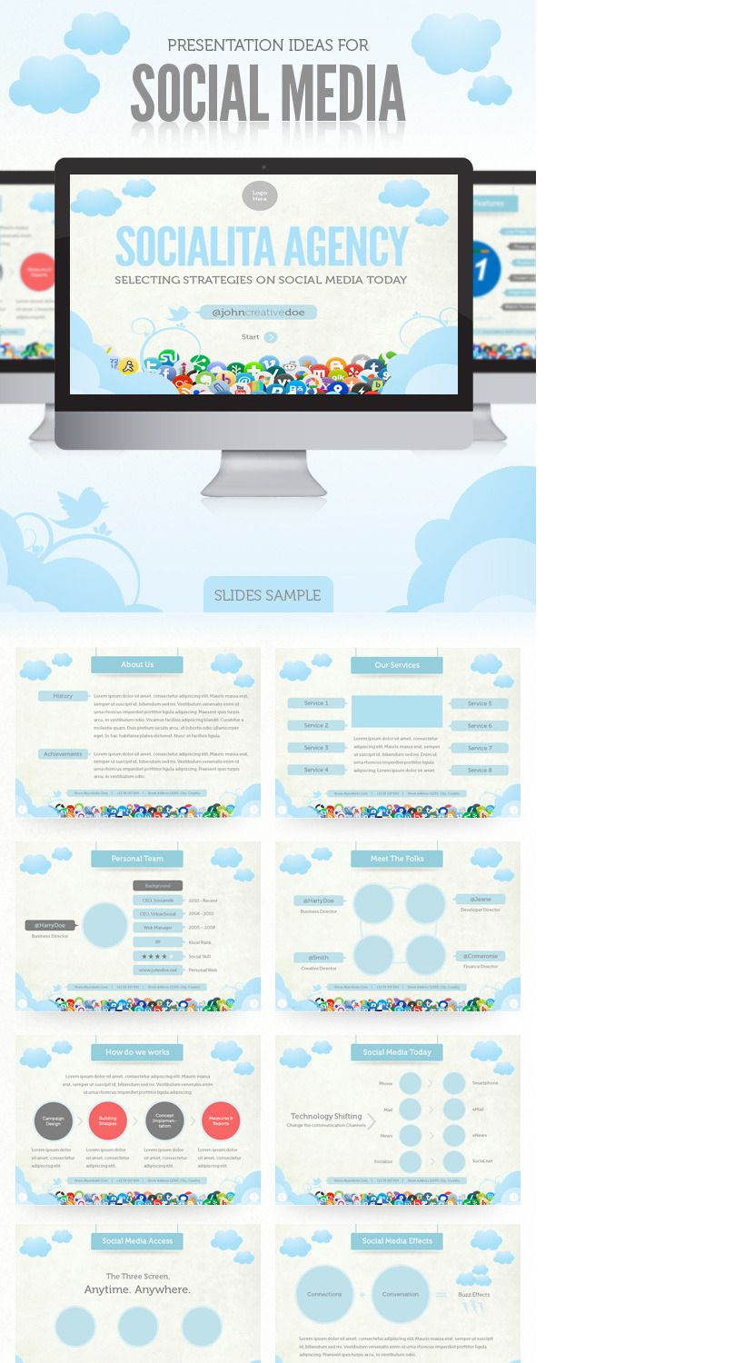 check out my behance project social media presentation template
