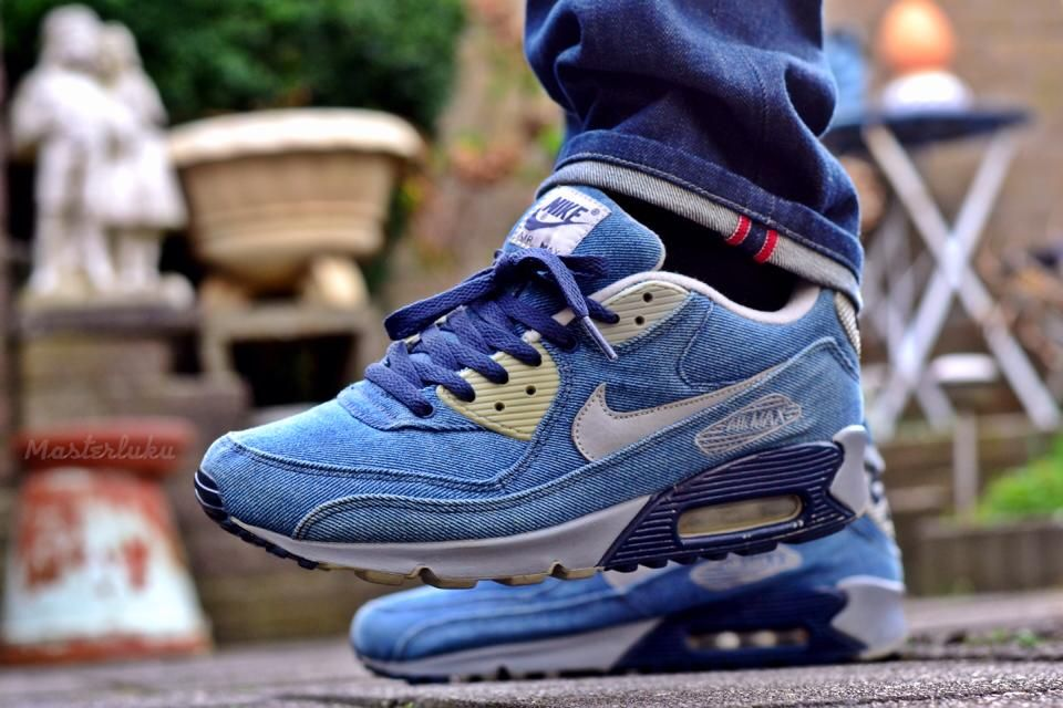 new york 80078 b8364 sweetsoles: Nike Air Max 90 Denim Courir - Colette Exclusive (by masterluku)