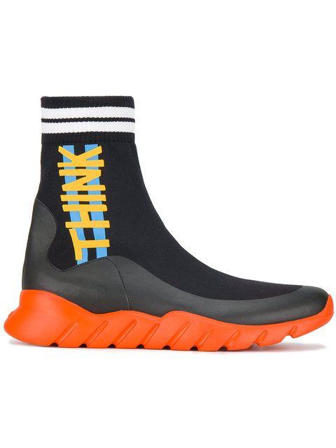 Salut-top Sneakers De Chaussette - Fendi Jaune Et Orange PpXm7