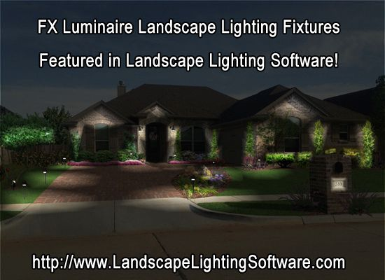 Fx Luminaire Dealers And Contractors Can Design Outdoor Lighting As If It Were Night And Landscape Lighting Design Lighting Design Software Landscape Lighting