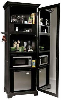 Brown Cabinet Unit Mini Fridge Shelves Microwave Google