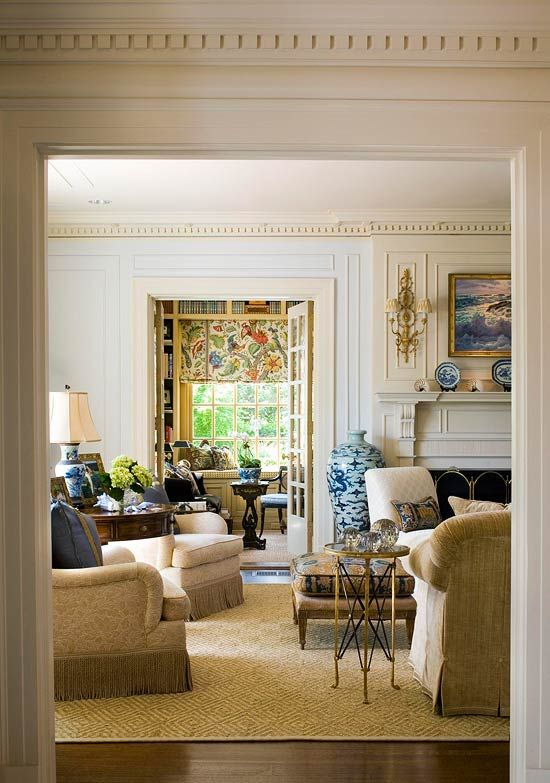 Beautiful Drawing Room: Pretty Color For An Architectural Classic In 2019