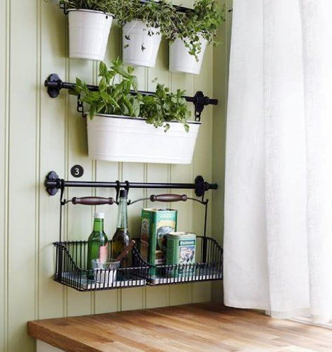 Ikea Kitchen Hanging Rail: Love The Wall Color And The Hanging Baskets. AmazonSmile