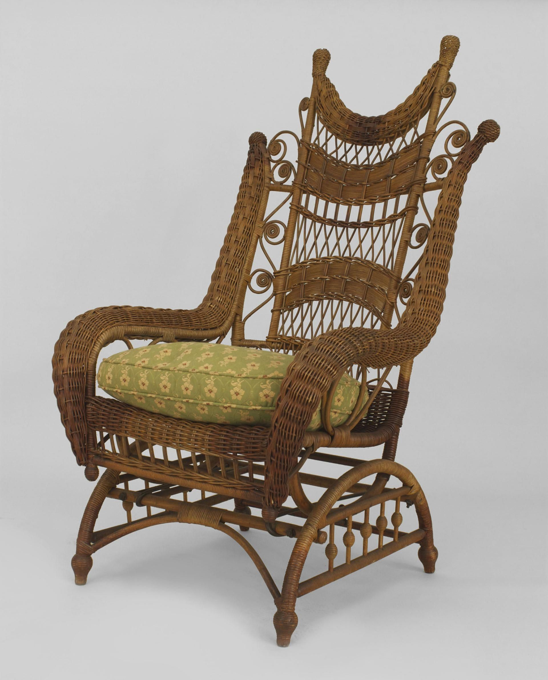 Amazing American Victorian Natural Wicker Ornate High Back Platform Spiritservingveterans Wood Chair Design Ideas Spiritservingveteransorg