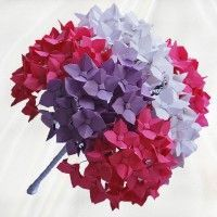 Beautiful Origami Hydrangea Bouquet Made Of Classic Flowers Clustered Together