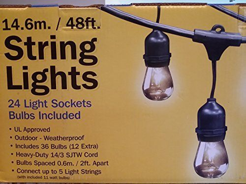 Feit Electric Led String Lights Custom Feit Electric 48Ft  146M Outdoor Lightstring 48 Feet 48 Feet Of Design Ideas