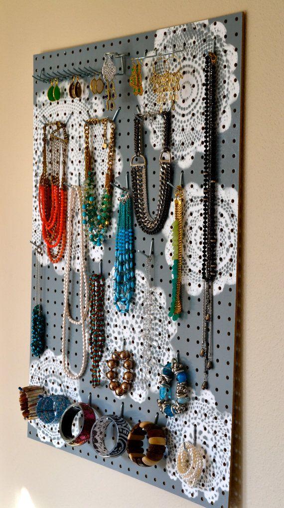 Jewelry Organizer Wall Display, Jewelry Holder, Custom, Hand Painted ...