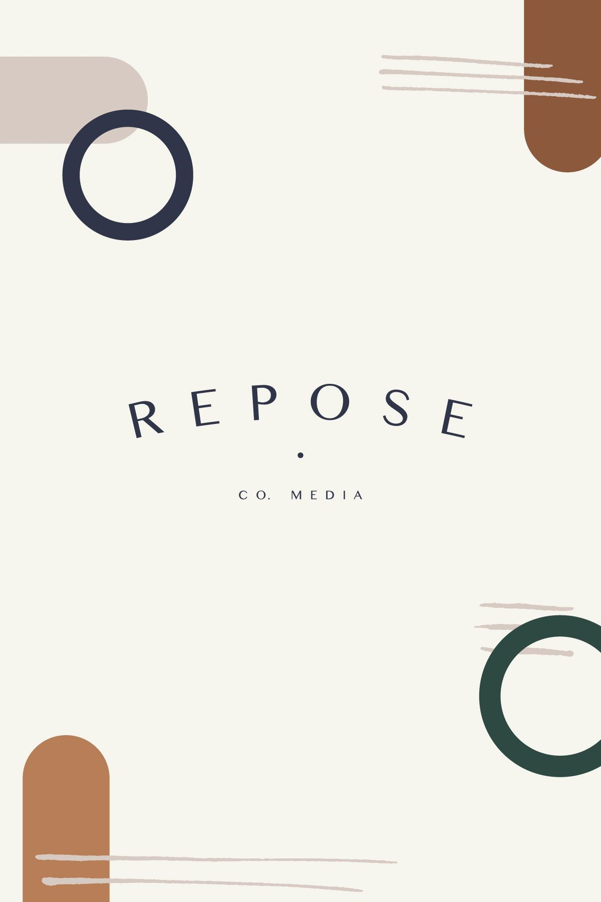 Brand Design Crafted With Intention For Repose Co Media This Secondary Logo Reflect Their Br Branding Design Logo Branding Design Branding Design Inspiration