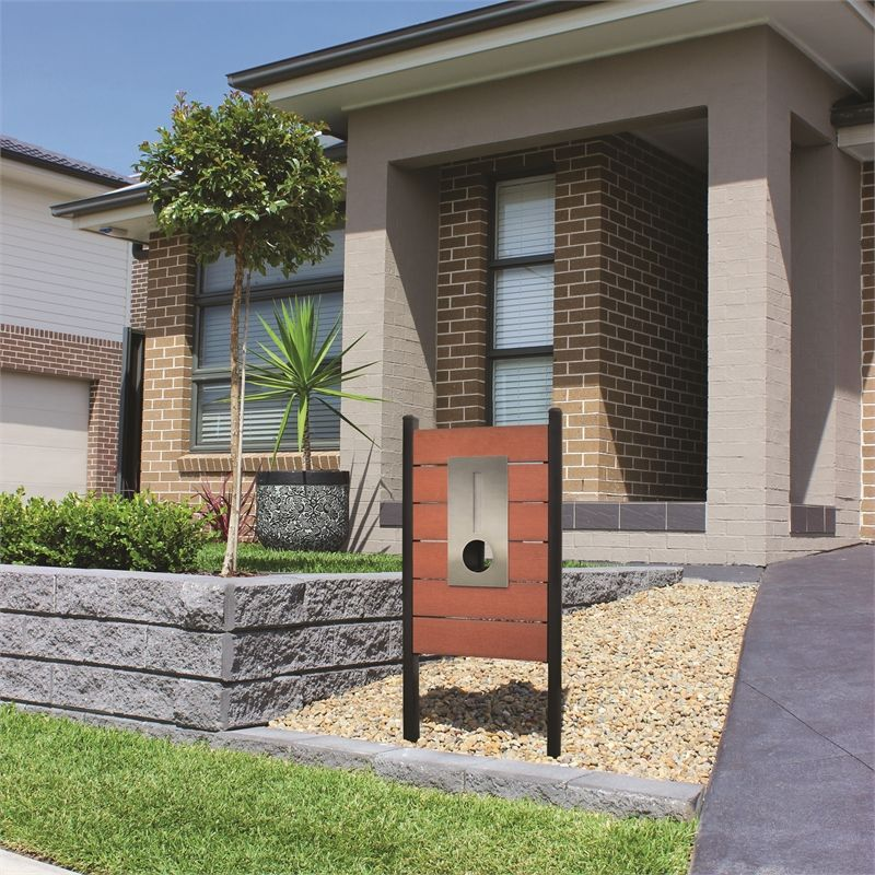 Find Northcote Pottery Red Elite Caloundra Pillar Letterbox At