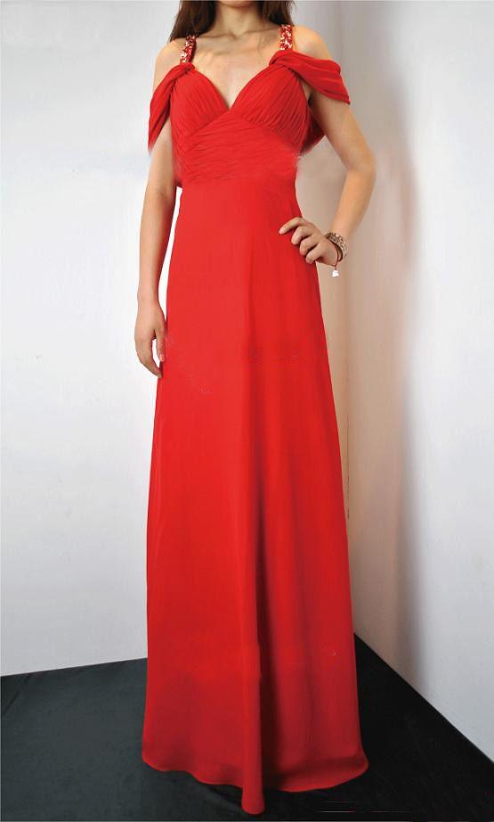 $298 DK4004 A-line chiffon evening dress