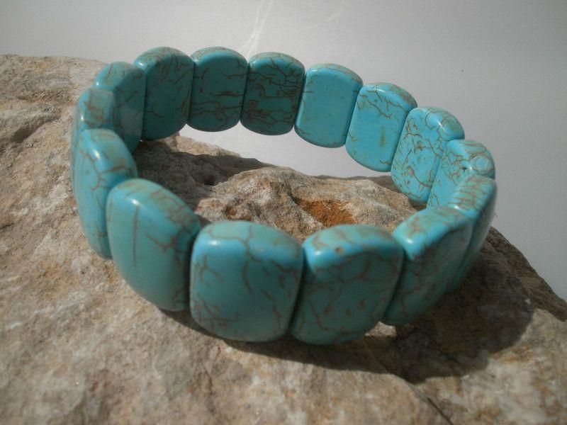 """Weiteres - Magnesit Armband """"Türkis""""  - ein Designerstück von star-schmuck bei DaWanda"""