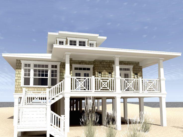 Beach House Plan, 052H-0084 Country Pinterest Beach house