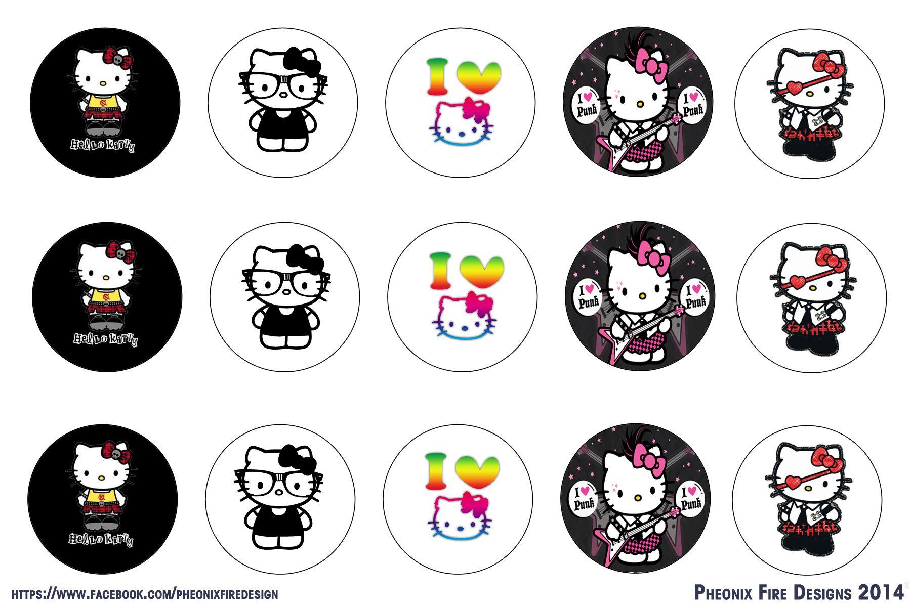 Hello Kitty Digital Collage Bottle Cap