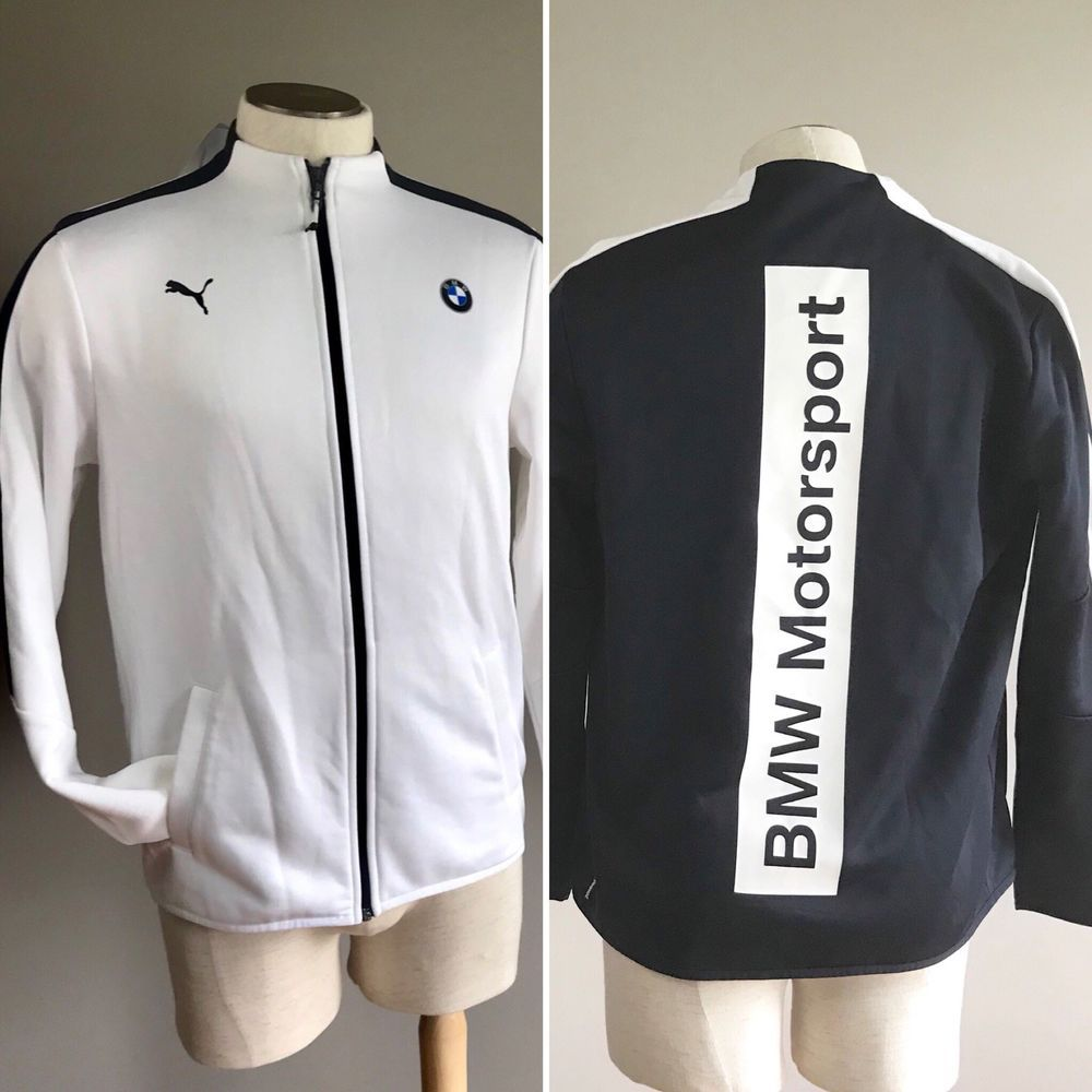 1b3b9723a5d Puma BMW mens T7 Motorsport Track Jacket medium sweat CHOOSE blue or white  NEW  PUMA  CoatsJackets