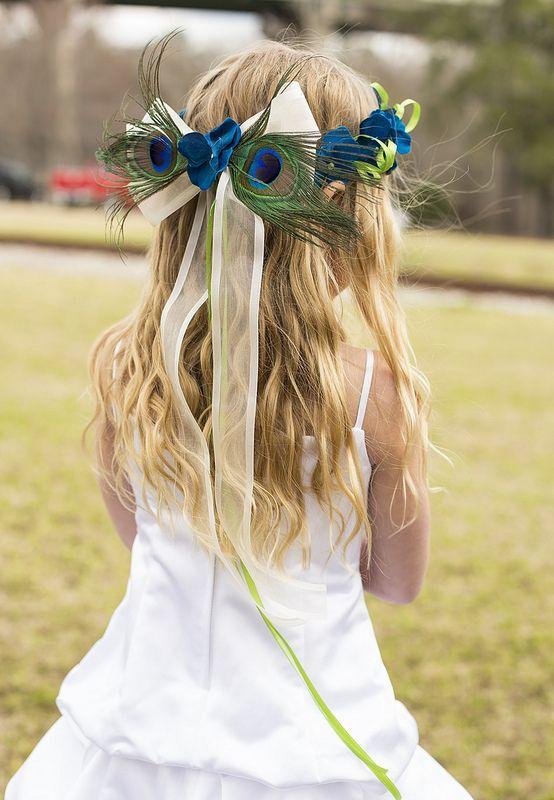 Peacock Flower Girl Crown | eBay